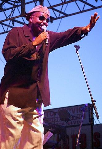 Michael Henderson - Henderson singing at Sunset Junction Festival in Los Angeles, California