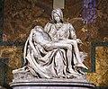 Michelangelo's Pietà, St Peter's Basilica (1498–99).jpg