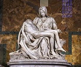 Pietà de Mikelanĝelo, Basilica de Skt monŝranko (1498-99).jpg