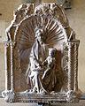 Michele da firenze, anconetta con la madonna col bambino e due formelle con busti d'angeli, xv secolo 02.JPG