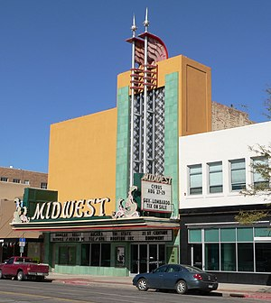 Scottsbluff, Nebraska - The Midwest Theater in downtown Scottsbluff is listed in the National Register of Historic Places.