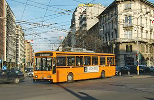 Trolleybuses in Milan - A Socimi II series (on Iveco 2470 chassis), no. 924, on route 92.