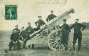 Rimailho Model 1904TR - Image: Militaire Canon de 155 court lle Rimailho 1907