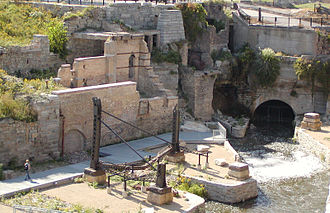 Mill Ruins Park - Image: Mill Ruins Park Foundations