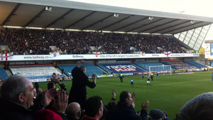 Leeds United F.C.–Millwall F.C. rivalry - Leeds fans in the North Stand at The Den, 18 November, 2012.