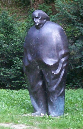 Miroslav Krleža - A bronze monument to Miroslav Krleža, created by Marija Ujević-Galetović, was placed in 2004 near the house where he lived for 30 years near Gornji Grad, Zagreb, Croatia