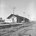 Missouri-Kansas-Texas Railroad Depot, Holland, Texas, Track View (16907135635).jpg