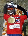 Mo chills out at the Baildon Scarecrow Walk (Taken by Flickr user 8th September 2012).jpg