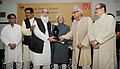 """Mohd. Hamid Ansari presented the 'Nai Duniya Awards for Excellence in Urdu Journalism"""" to outstanding media persons in Urdu Journalism, at a function, in New Delhi. The Union Minister for Civil Aviation, Shri Ajit Singh.jpg"""