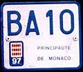 Monaco motorcycle license plate - BA-10 (1997).jpg