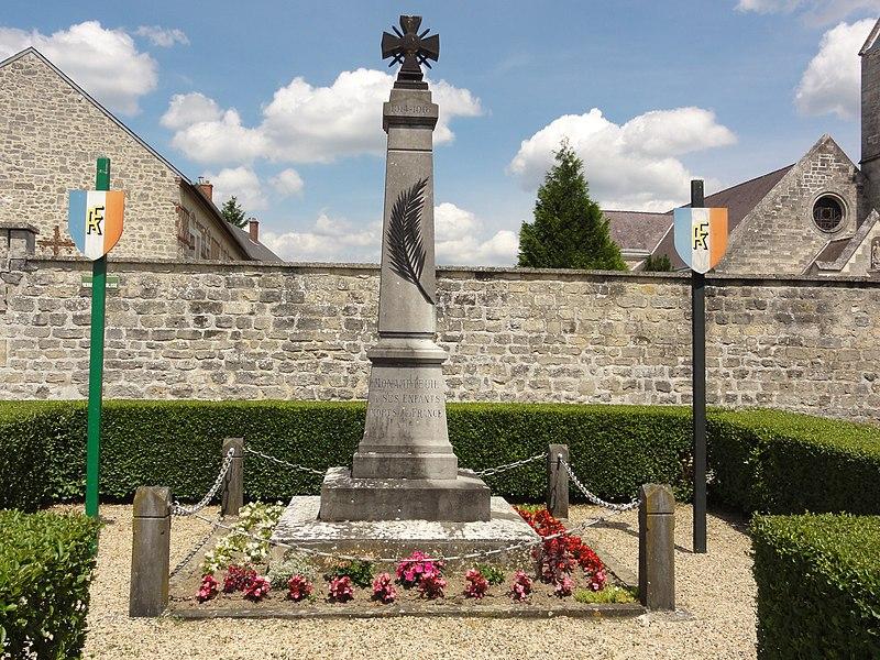 Monampteuil (Aisne) monument aux morts