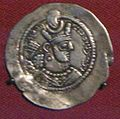 Moneta d'argento di bahram V, re dei re sasanide, V sec.JPG