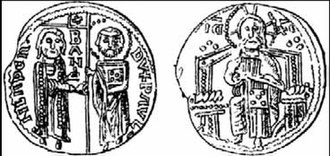 Paul I Šubić of Bribir - Coins issued by Paul I Šubić of Bribir. It reads:  DVX PAVL – BAN –MLADEN.