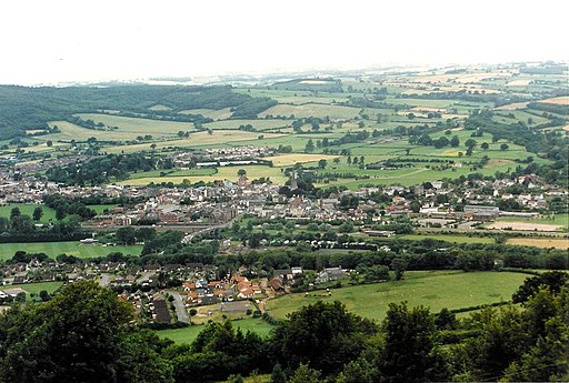 Monmouth From the Kymin 1985
