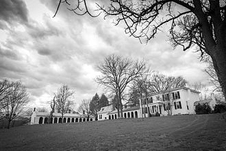 Monroe Hill - Monroe Hill: The eclectic, L-Shaped compound includes the James Monroe Law Office, c.1790, the Perry Mansion and the colonnade wings.