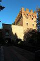 Monte oliveto maggiore, barbacane (1323-1526 restaurato nell'ottocento) 01.JPG