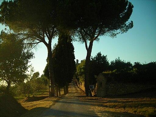 Montelifrè, la strada d'accesso