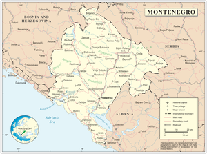 Geography of Montenegro - Map of Montenegro