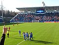 Montreal Impact players celebrates goal vs Chicago Fire 2013-04-27.jpg