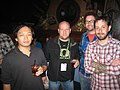Monty Oum, Eric Neustadter, Burnie Burns and Geoff Ramsey at PAX Prime 2010 (4964222706).jpg