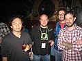 Monty Oum, Eric Neustadter, Burnie Burns and Geoff Ramsey at PAX Prime 2010 (4964222706).jpg