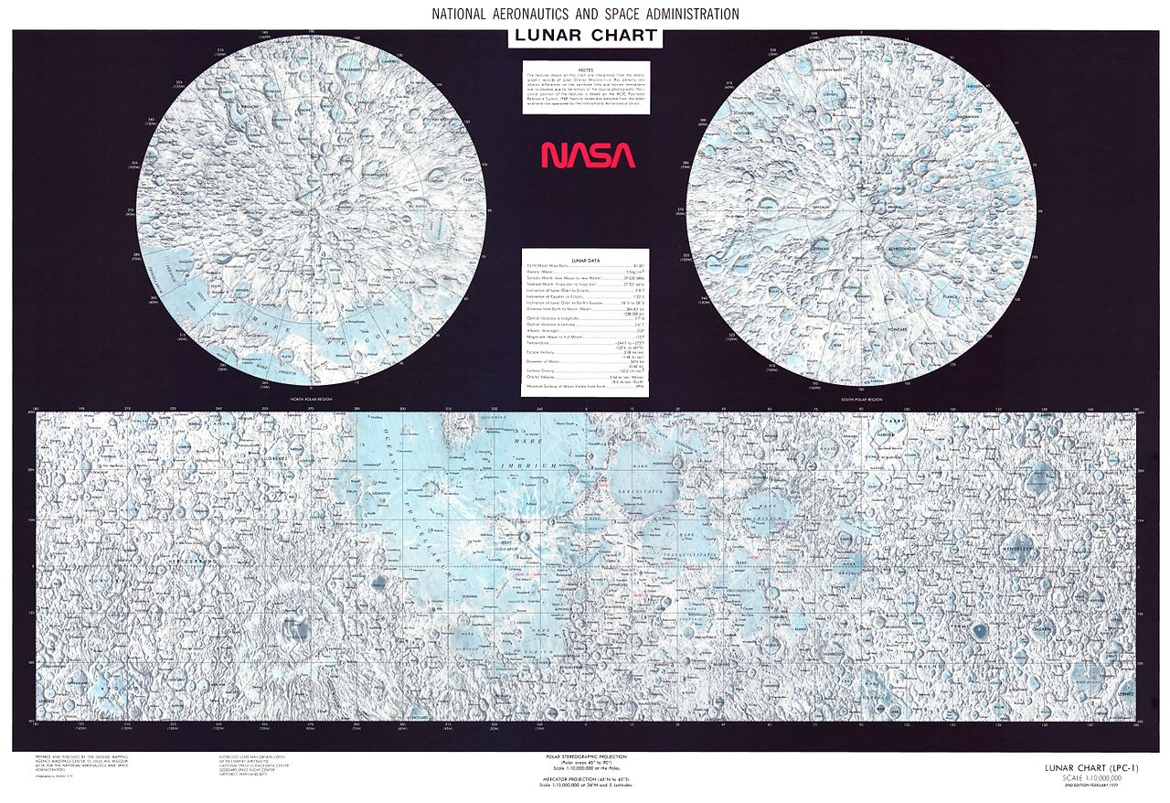 Moon Signs Chart: Moon Map - LPC1 - NASA.jpg - Wikimedia Commons,Chart