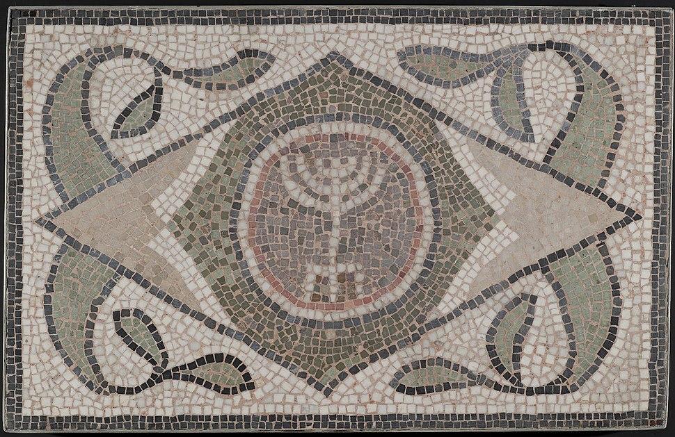 Mosaic of Menorah.05.27