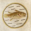 Mosaique de poisson au musée de Sousse, septembre 2013.jpg