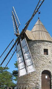 Moulin vent wikip dia - Fabriquer moulin a vent de jardin ...