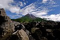 Mount Merapi from the south side with rocks from the eruption.jpg
