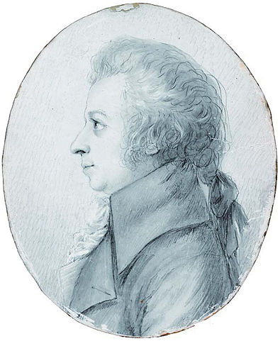 Портрет Моцарта работы Дорис Шток. Дрезден, 1789 год