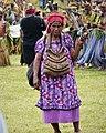 Mt. Hagen Sing Sing. Lady with her bilum (bag) (48951197053).jpg