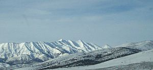 Mount Nebo (Utah) - Mount Nebo eastern side during winter