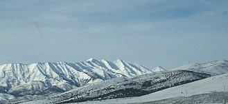 Mount Nebo (Utah) - Mount Nebo eastern side during winter