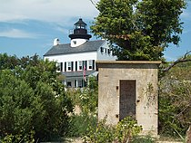 Munitions Shed and Lighthouse Sept 09.JPG