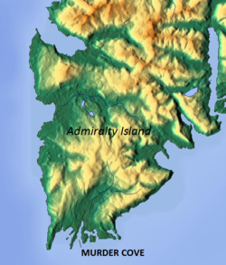 Location of Murder Cove
