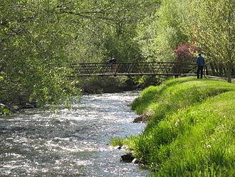 Little Cottonwood Creek - The Little Cottonwood Creek  in Murray City Park, Murray, Utah