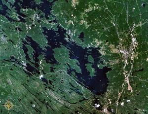 Lake Muskoka - Satellite image of the lake
