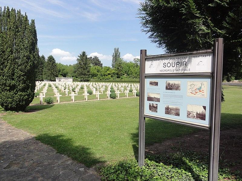 Nécropole nationale de Soupir (Aisne) panneau