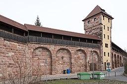 Nürnberg, Stadtbefestigung, Maxtormauer, Schwarzes J-20160304-001