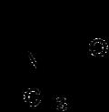 Struktur von N-Methyl-2-pyrrolidon
