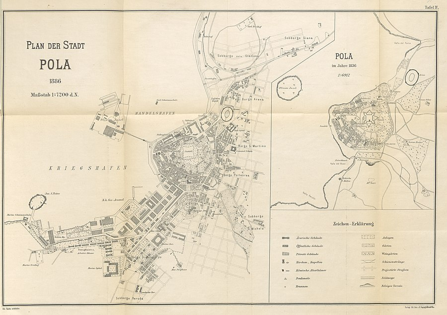 N.N.(1886) p107 Pola, Stadtplan