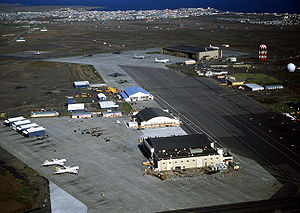 Iceland in the Cold War - The US-manned Keflavík Air Base in 1982. The United States maintained a military presence in Iceland throughout the Cold War.