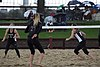NCAA beach volleyball match at Stanford in 2017 (33281743925).jpg