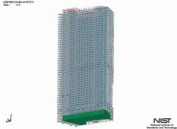 Datei:NIST WTC 7 collapse model with debris impact damage.ogv