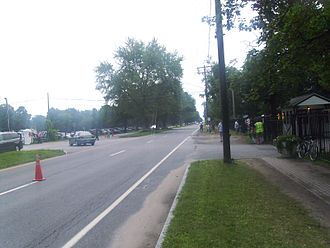 New York State Route 9P - NY 9P southbound at Saratoga Race Course in Saratoga Springs