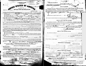 Afroyim v. Rusk - Official record of Beys Afroyim's U.S. naturalization in 1926