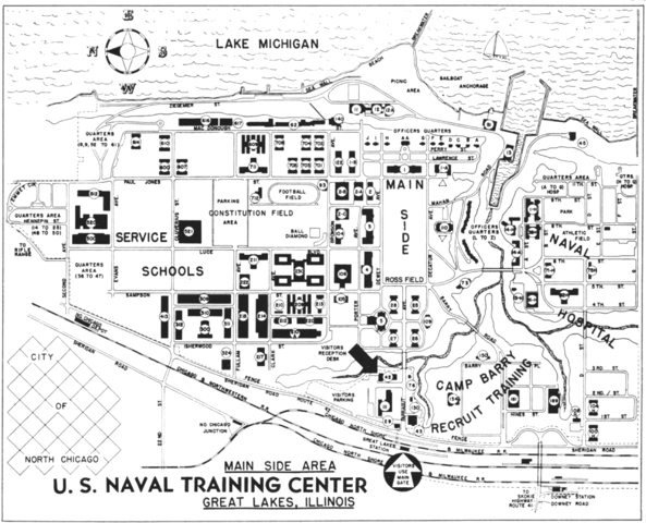 Great Lakes Naval Base Map File:Naval Station Great Lakes map 1959.png   Wikimedia Commons Great Lakes Naval Base Map