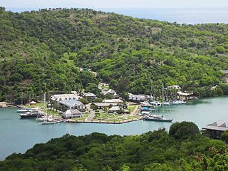 Nelsons Dockyard cultural heritage site and marina in Antigua