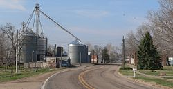 Nemaha, seen from the north along Nebraska Highway 67